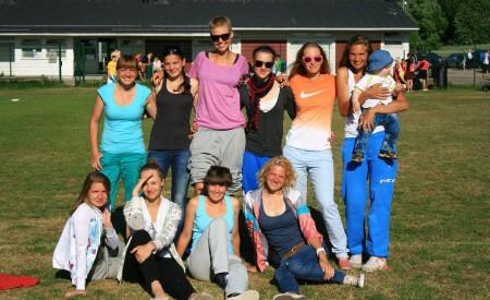 Команда Cosmic Girls натурнире 1й этап Финской Лиги 2013 (ЖД, 3/10)