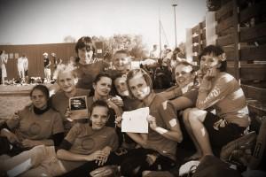 Команда Шестое Солнце натурнире Брест без границ 2012 (ЖД, 3/6)