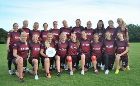 Команда Latvia Women натурнире EUC 2015 (ЖД, 14/19)