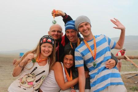 Команда Тугодумы натурнире Baikal Frisbee Hat Tournament 2015 (Микс дивизион, 4/5)