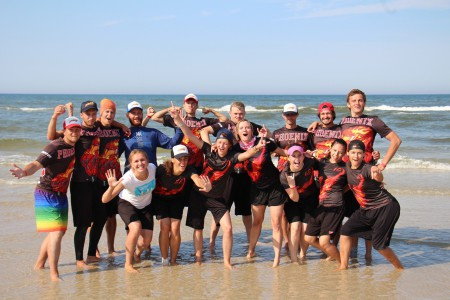 Команда Phoenix mixed натурнире SandSlash 2015 (Микс дивизион, 8/30)