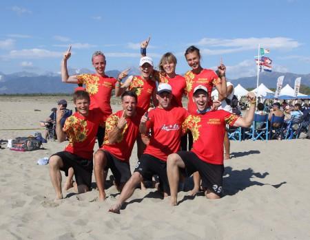 Команда RUSSO TURISTO – RUSSIA натурнире Burla Beach Cup 2015 (Микс дивизион, 1/9)