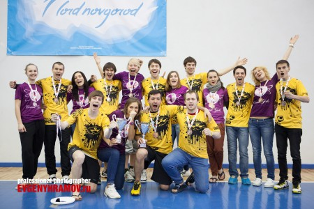 Команда Космик Гелз натурнире Лорд Новгород 2013 (ЖД, 3/16)