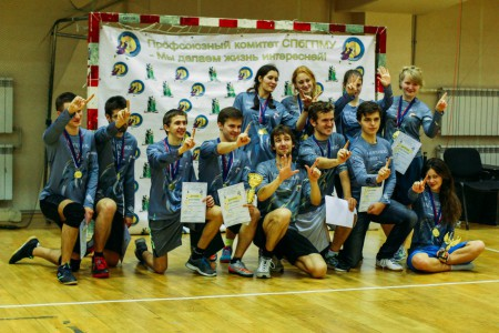 Команда СПбГУ натурнире Студенческий СЗЛ 2015 (Микс дивизион, 1/8)