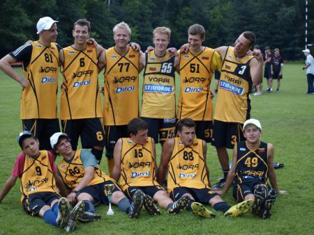 Команда Vorai, Vilnius/LT натурнире Vilnius Ultimate Cup 2009 (ОД, 2/8)