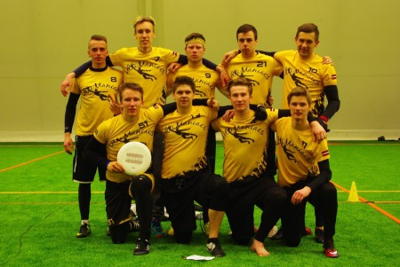Команда Ventspils ''UltiManiacs'' на турнире Kick in de Kok 2016 (ОД, 10/24)