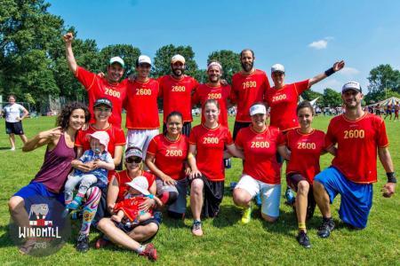 Команда 2600 натурнире Windmill Windup 2016 (Микс дивизион, 35/40)