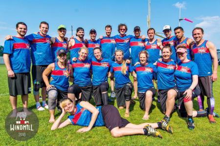 Команда Pax6 натурнире Windmill Windup 2016 (Микс дивизион, 20/40)