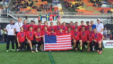 Команда США натурнире WUGC 2016 (Men, 1/30)