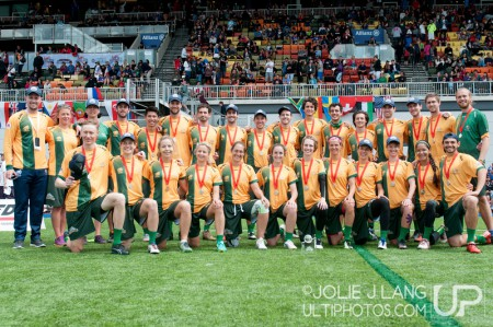 Команда Австралия натурнире WUGC 2016 (Mixed, 2/30)