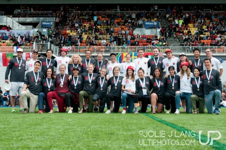 Команда Канада натурнире WUGC 2016 (Mixed, 3/30)