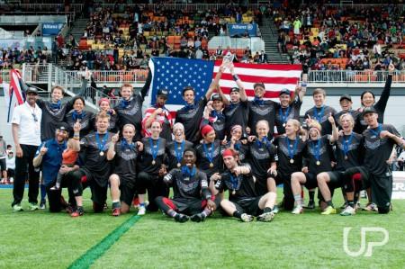 Команда США натурнире WUGC 2016 (Mixed, 1/30)