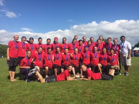 Команда США натурнире WUGC 2016 (Master Women, 1/11)