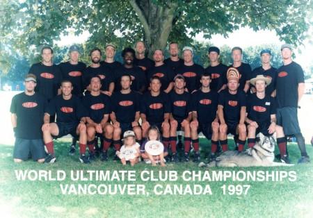 Команда Sockeye натурнире WUCC 1997 (ОД, 1/50)