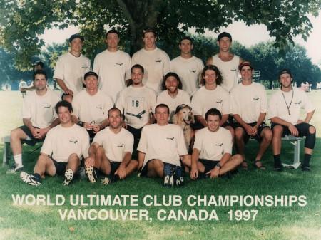 Команда Condors натурнире WUCC 1997 (ОД, 5/50)