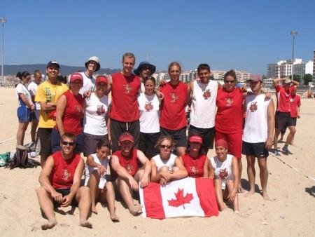 Команда Canada натурнире WCBU 2004 (Микс дивизион, 11/14)