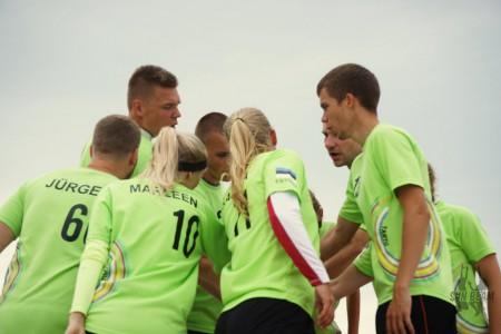 Команда Tartu Turbulence натурнире Sun Beam 2016 (Микс дивизион, 9/11)