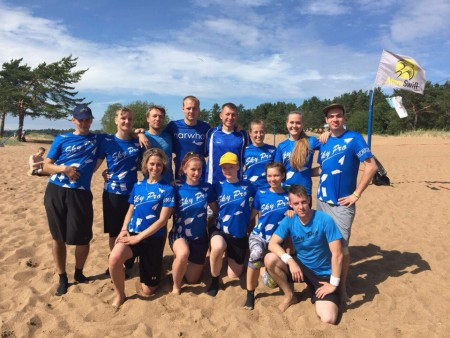 Команда Sons of the beach натурнире Вызов Питера 2016 ПЧР (Микс дивизион, 6/8)
