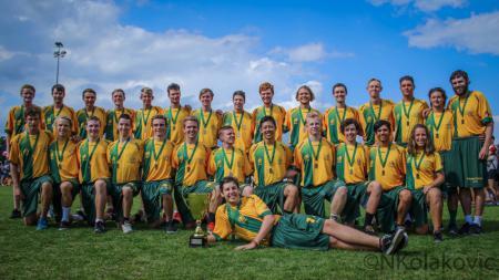 Команда AUS U20 натурнире WJUC 2016 (U20 Men's, 26/29)