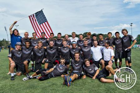 Команда USA U20 натурнире WJUC 2016 (U20 Men's, 1/29)