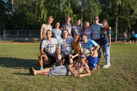 Команда Bright Vladimir натурнире Позитрон 2016 (Микс дивизион, 8/10)