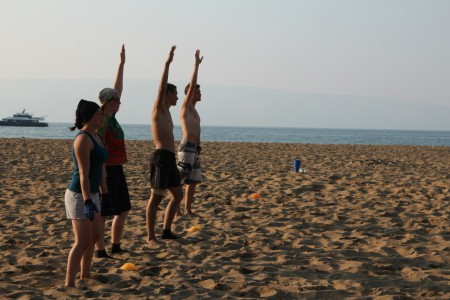 Команда Buttshakers натурнире Baikal Frisbee Hat Tournament 2016 (МД, 3/4)
