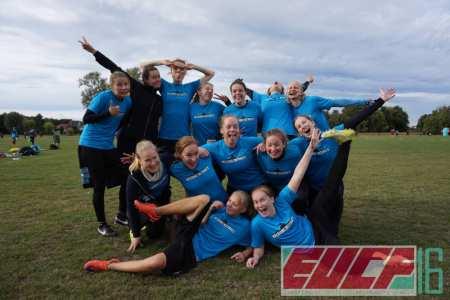 Команда Helsinki Ultimate натурнире EUCF 2016 (ЖД, 11/12)