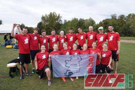 Команда Rebel Ultimate натурнире EUCF 2016 (МД, 7/12)