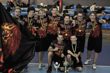 Команда Феникс на турнире Lubart Ultimate Cup 2012 (ОД, 1/8)