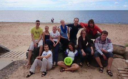 Команда Tartu Turbulence натурнире Ultimate Sunshine 2014 (МД, 7/7)