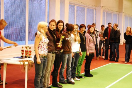 Команда Bubblicious натурнире LUC indoors 2010 (ЖД, 1/7)