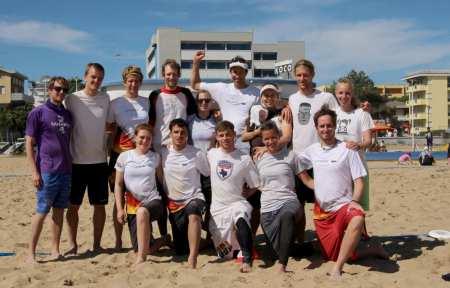 Команда SANDSTURM натурнире Bibione Beach Challenge 2014 (МД, 4/26)