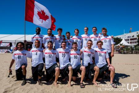Команда Canada натурнире WCBU 2017 (Men's, 8/23)