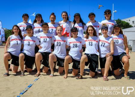 Команда Canada натурнире WCBU 2017 (Women's, 4/16)