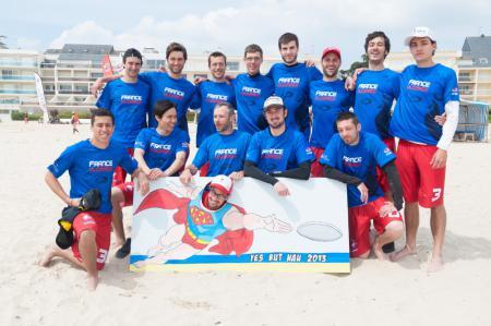 Команда France Open Beach натурнире Yes But Nau 2013 (Elite, 1/8)