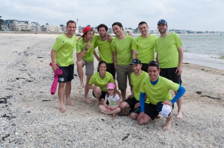 Команда Frisbeurs Nantais натурнире Yes But Nau 2013 (Open, 15/20)