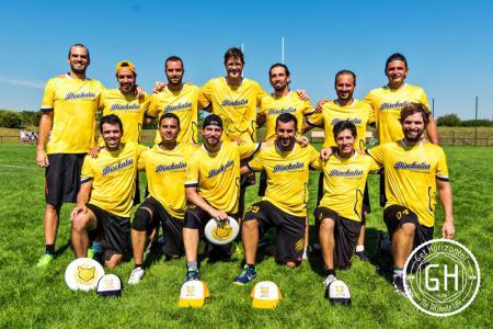 Команда Disckatus Ultimate Madrid натурнире EUCR-S O+W 2016 (ОД, 6/12)