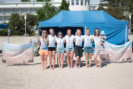 Команда Salaspils FK натурнире SandChamps 2018 (ЖД, 1/5)