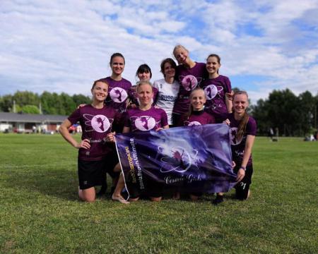 Команда Cosmic girls натурнире 1-й этап Финской Лиги 2018 (ЖД, 3/6)