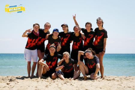 Команда Phoenix натурнире Ukraine Beach Open (ПЧУ) 2018 (ЖД, 3/7)