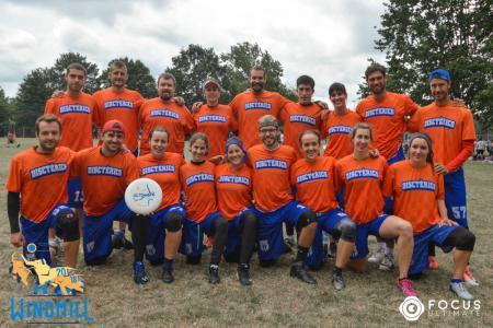 Команда Disctèrics Ultimate Girona натурнире Windmill Windup 2018 (МД, 21/40)