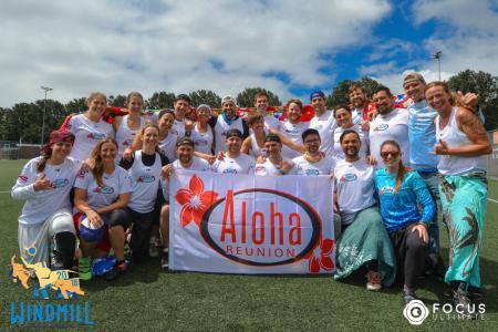 Команда Aloha Reunion Team натурнире Windmill Windup 2018 (МД, 34/40)