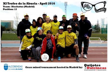 Команда Disckatus натурнире XI Trofeo de la Abuela 2016 (Mixed, 12/12)