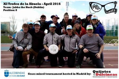 Команда Jabba The Huck натурнире XI Trofeo de la Abuela 2016 (Mixed, 8/12)