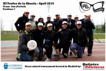 Команда SUN натурнире XI Trofeo de la Abuela 2016 (Mixed, 7/12)