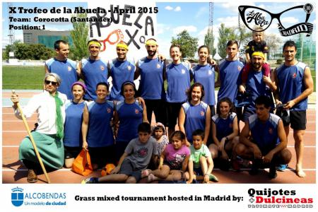Команда Corocotta натурнире X Edición Trofeo de la Abuela 2015 (Mixed, 1/12)