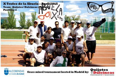 Команда Quijotes+Dulcineas натурнире X Edición Trofeo de la Abuela 2015 (Mixed, 2/12)