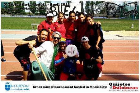 Команда Murciélagos натурнире X Edición Trofeo de la Abuela 2015 (Mixed, 4/12)
