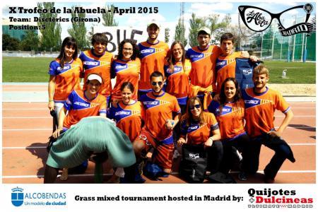 Команда Disctèrics натурнире X Edición Trofeo de la Abuela 2015 (Mixed, 5/12)
