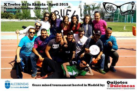 Команда BolskanDisc натурнире X Edición Trofeo de la Abuela 2015 (Mixed, 6/12)